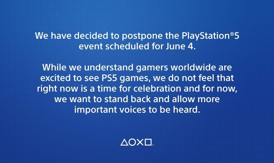 Sony stelt Playstation 5 evenement uit