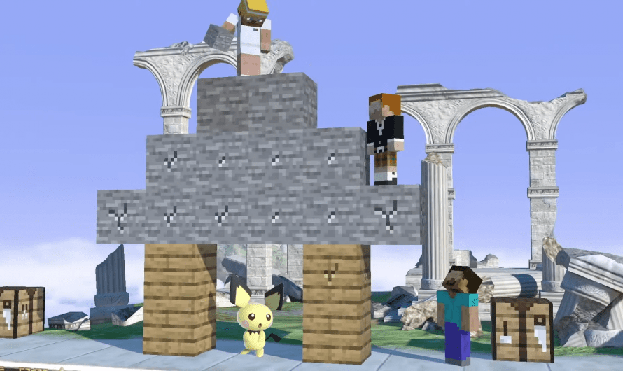 Minecraft onderweg naar Super Smash Bros. Ultimate